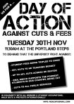 University of Nottingham anti-fees action 30th November 2010