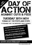 University of Nottingham anti-fees action 30th November 2010