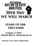 Nottingham Trent University anti-fees action 30th November 2010