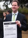 Nick Clegg's pre-election student fees pledge, now broken