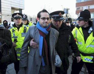 NUS president requiring police reassurance in Manchester on 29th January 2011