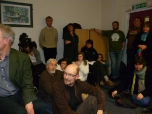 Photo of save Sherwood Forest packed meeting on 27th January 2011