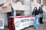 notts sos stall nhs listening event 18 May 2011