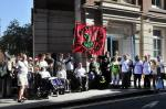 Demonstration near ATOS examination centre on Stoney St. in 2011