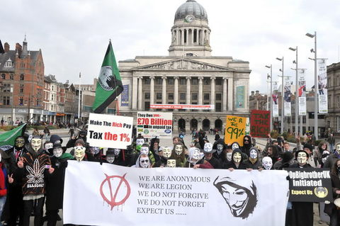 Nottingham Anonymous demo 23th February 2013