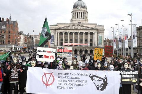 Nottingham Anonymous demo 23th February 2013